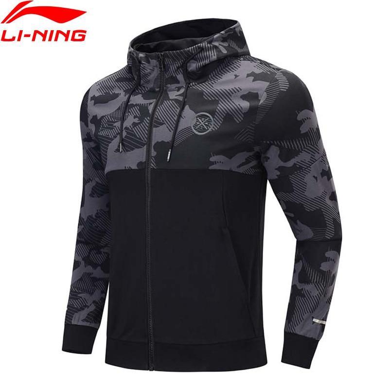 Li-Ning Men Wade Hoodie Comfort Regular Fit Hooded Cotton Polyester Printing Li Ning LiNing Sports Sweaters AWDP437 MWW1600