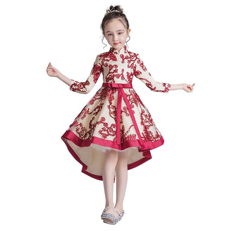 Party Tulle Formal Dress Flower Girl Dress Wedding Dress Birthday Dress Pageant Dresses Qipao Modern Flower Embroider