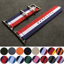 Nylon Watchband for Apple Watch Band Series 6 se 5 4 3 2 1 Sport Belt Watch Bracelet 40 38 mm 42mm 44mm Strap for iwatch Band cheap CN(Origin) Other Watchbands New without tags Nylon band for iWatch pin buckle Nylon band for apple watch Multicolor 38mm 40mm 42mm 44mm