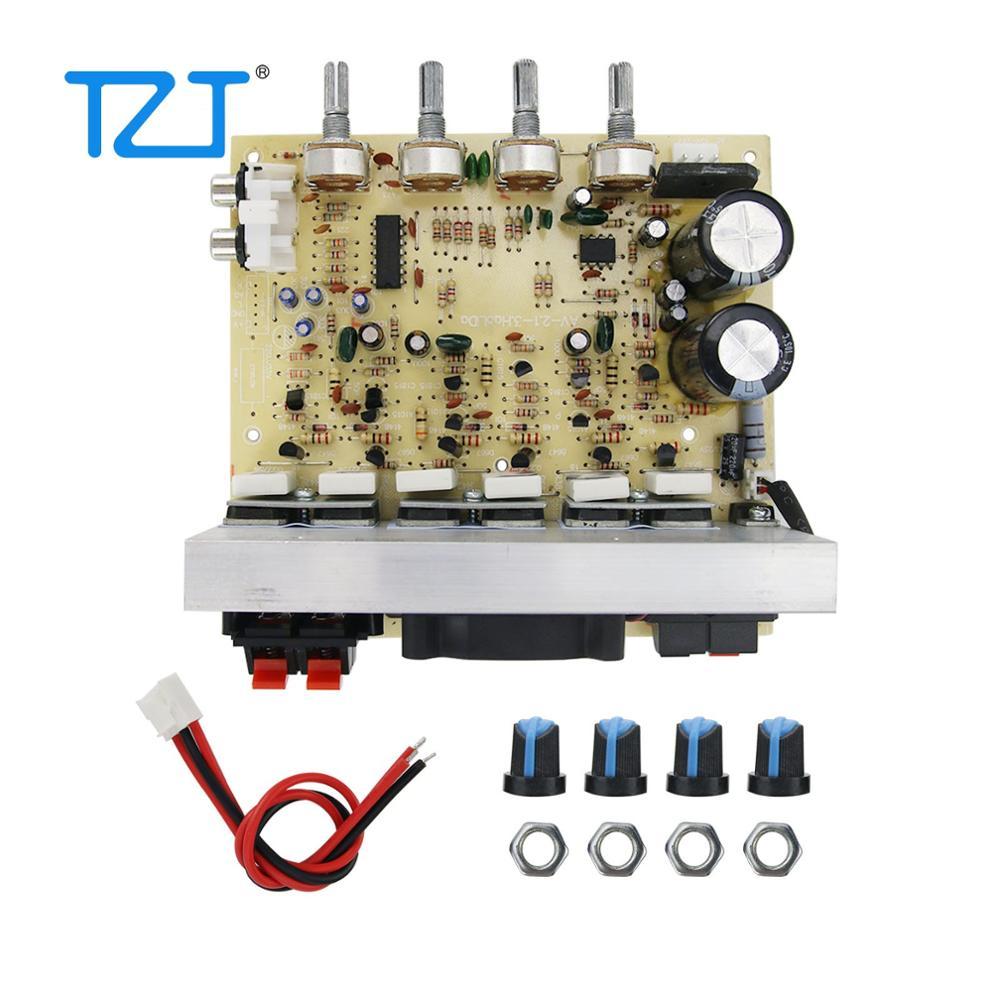 TZT 3 канальный сабвуфер усилитель платы 2,1 усилитель платы 100 Вт * 2 + 120 Вт * 1 Вентилятор охлаждения усилителя DIY|Усилители мощности|   | АлиЭкспресс