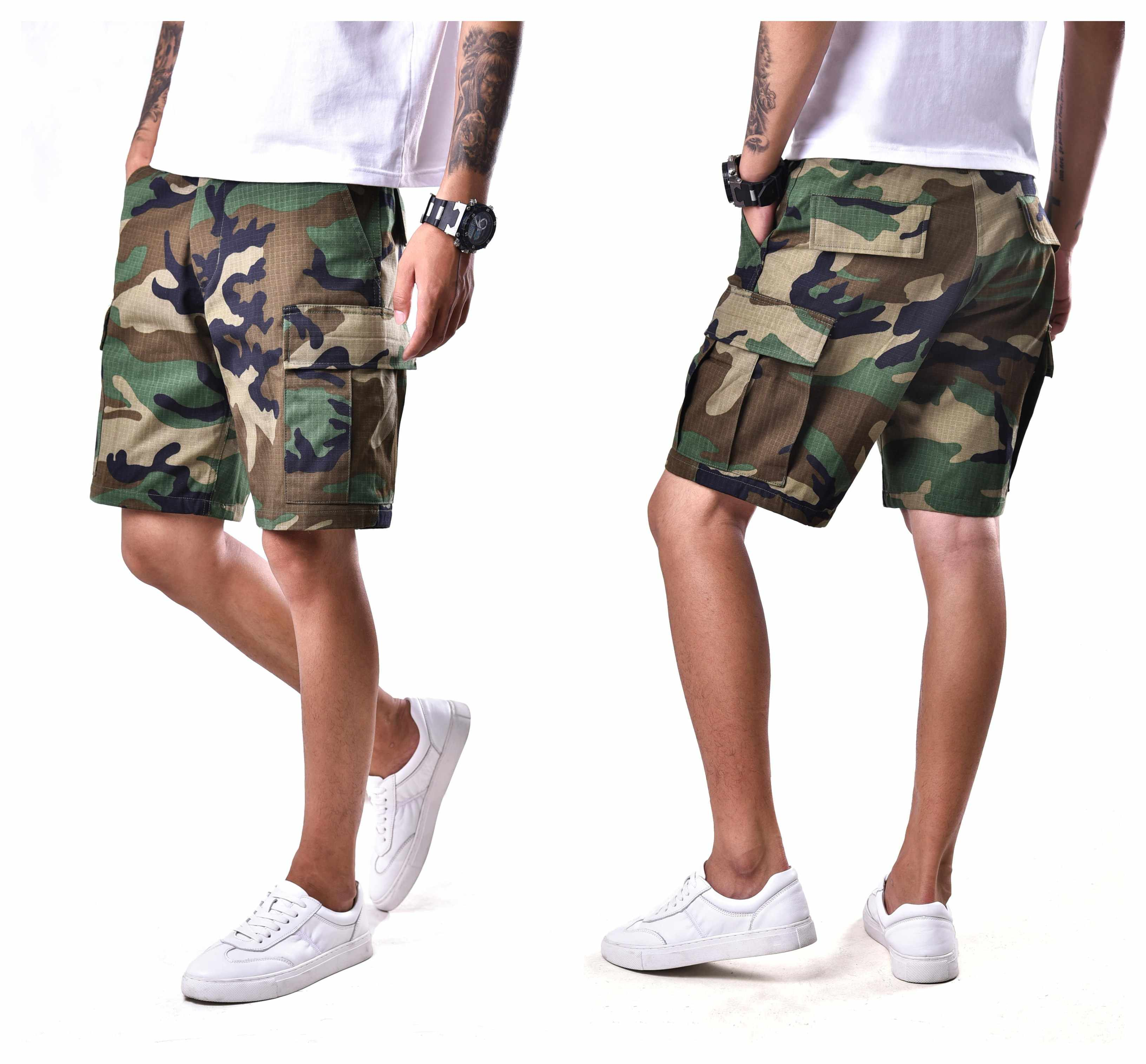Mens Casual Straat Shorts Combat Militaire Leger Camo Bdu Shorts Werk Camp Outdoor Shorts