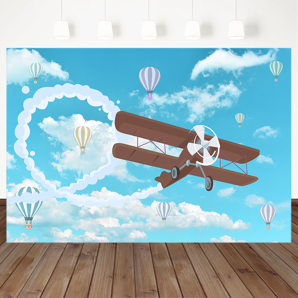Aircraft Photography Backdrops Newborn Baby Background Decora Photo Studio Prop