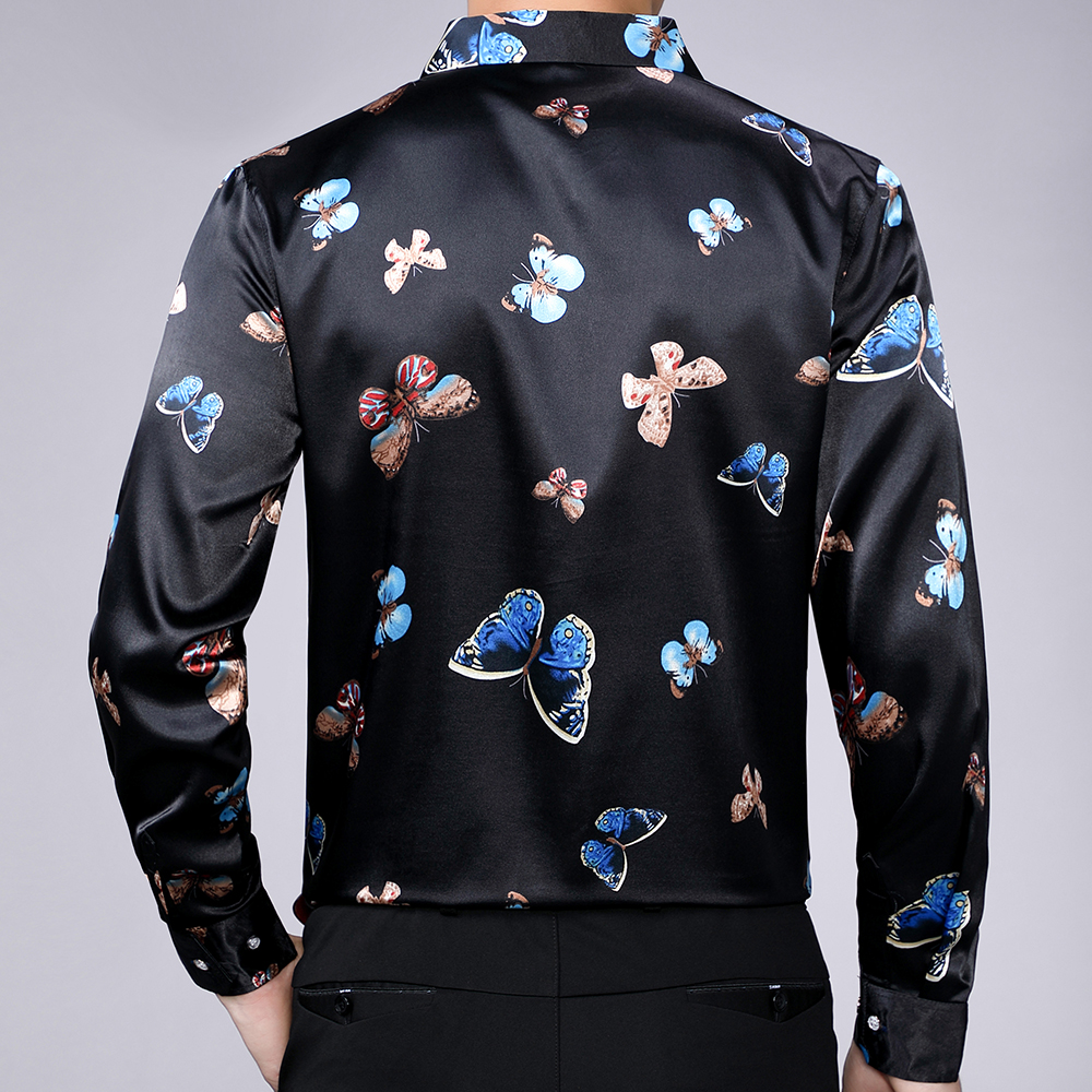 2020 brand long sleeve men social shirt streetwear casual butterfly shirts dress mens slim regular fit clothes fashions 90323 2