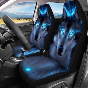 Image 2 - HUGSIDEA Cool 3D Star Wolfพิมพ์รถยนต์รถProtectorกรณีแฟชั่นการออกแบบสัตว์อุปกรณ์อัตโนมัติPUหนัง