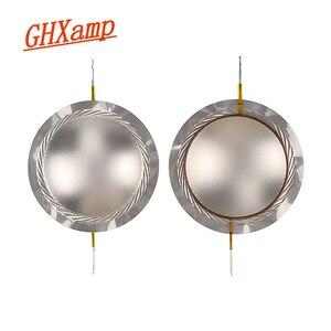 Image 1 - GHXAMP 75 الأساسية مكبر الصوت المتكلم ملف صوتي فيلم التيتانيوم 8ohm 74.5 مللي متر ثلاثة أضعاف المتكلم سلك دائري الحجاب الحاجز للمرحلة الصوت 2 قطعة