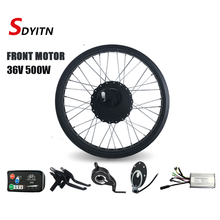 SDYITN Electric snow bicycle Conversion Kit 20/26 inch 36V500W front Fat bike motor wheel 4 color for Fat Bike Electric Wheel