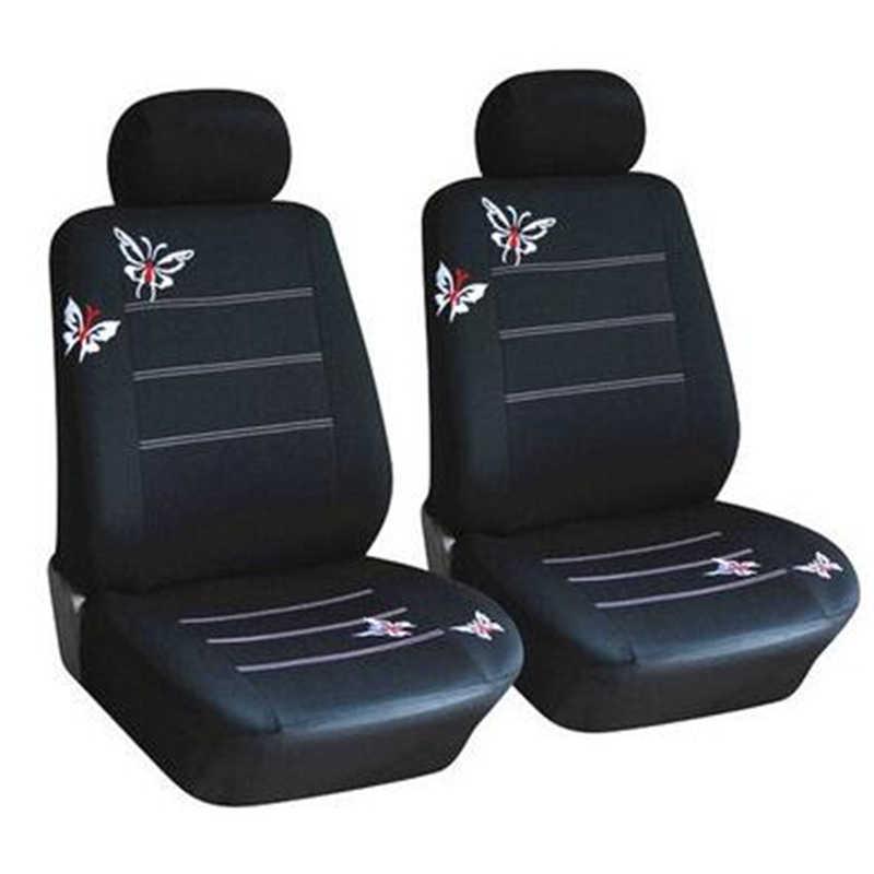 Fundas de asiento de coche con patrón de mariposa de 4/9 Uds compatibles con la mayoría de 100% de coche, camión, SUV o Van transpirables con compuesto de 2 mm