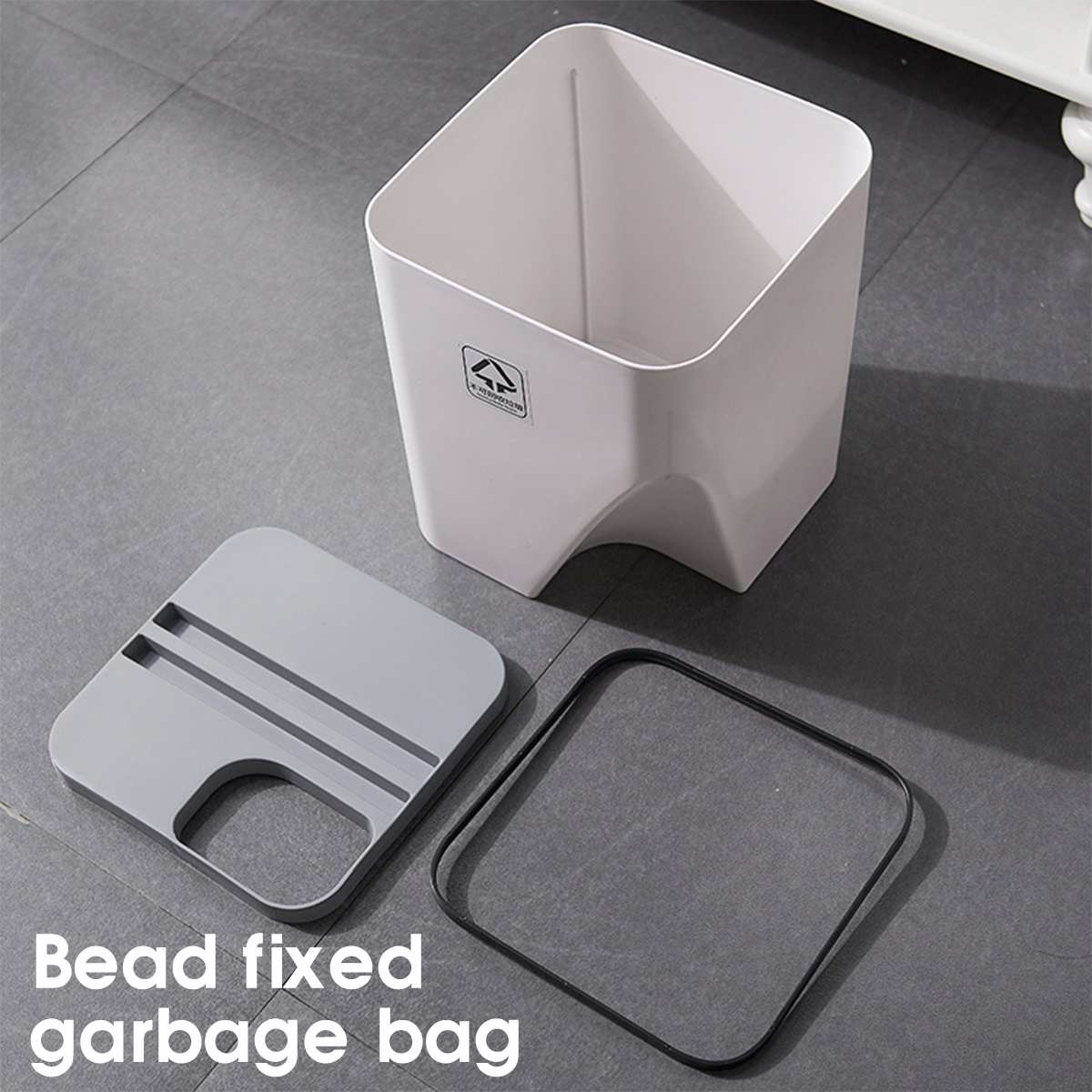 Dry and Wet Sorting Trash Can Strong Load Bearing Waste Bins Kitchen Waste Bin Garbage Bag Zero Waste Recycle Compost Bin Trash|Waste Bins| |  - title=