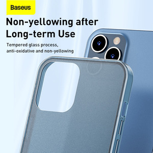 Image 3 - Baseus Frosted Glass Protective Case For iPhone 12 Pro 12 Back Case For iPhone 12 Pro Max Protective Soft Phone Cover For iPhone