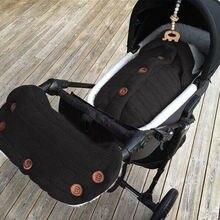 Зимний вязаный для Новорожденных Обертывание Пеленальное Одеяло Прогулочная ДЕТСКАЯ КОЛЯСКА с конвертом сумка для 0-24 месяцев детская коляска поручень набор 2 шт
