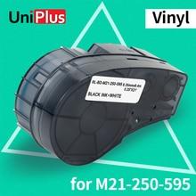 UniPlus M21 250 595 Label Tapes Compatible Brady M21-250-595 WT Vinyl Label Maker for Brady BMP21-PLUS BMP21 LAB Printer 6.35mm недорого
