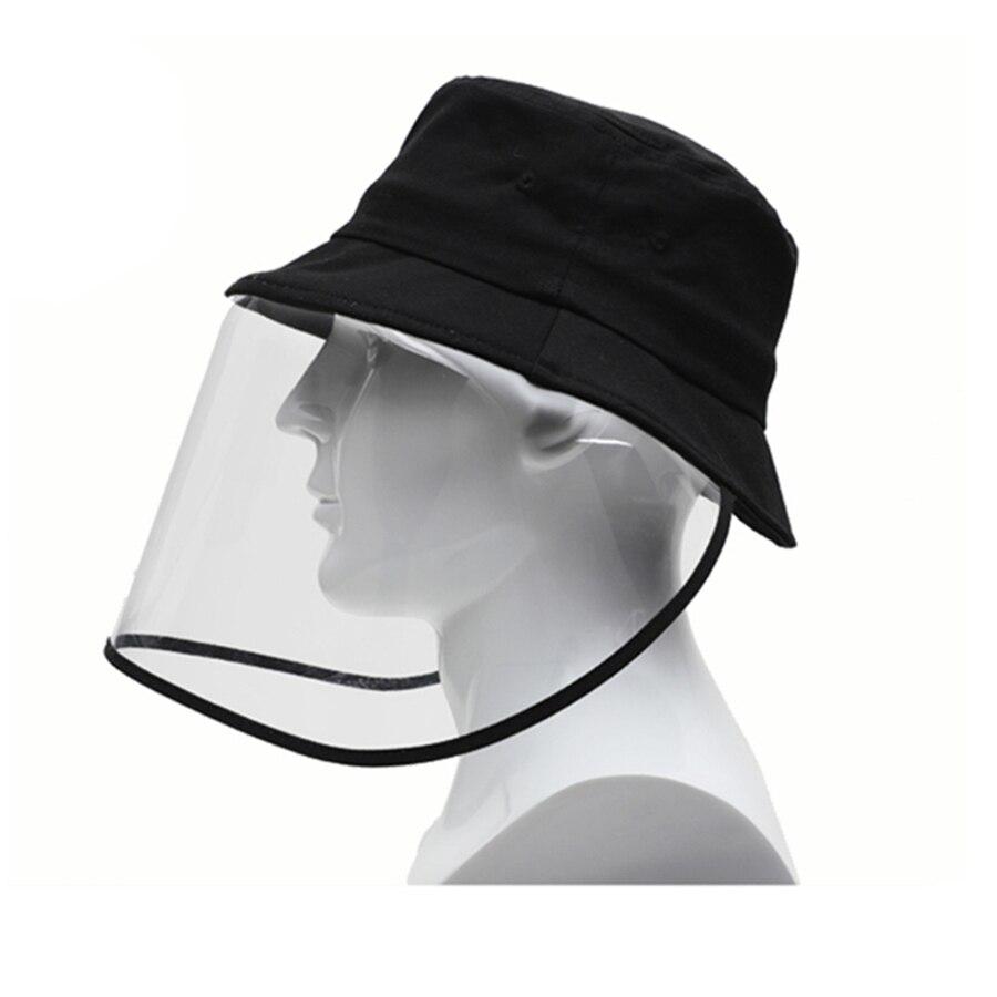 Gresunny Sombrero Protector Anti-Saliva Anti-escupir Sombreros de Pescador antiniebla Plegable Gorra de Pescador con Cubierta Facial Desmontable Transparente Sombrero de Sol para ni/ños ni/ñas Unisex