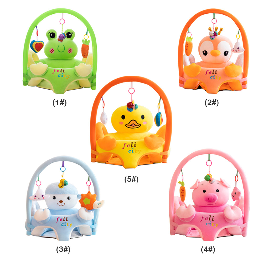 Baby Chair Cute Adorable Baby Chair Sofa Cartoon Cover Cartoon Baby Sofa Support Seat Cover Learning To Sit Plush Chair Filler