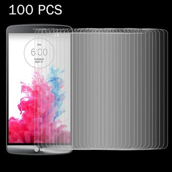 100 PCS for LG G3 / D855 / D856 / D857 / D859 0.26mm 9H Surface Hardness 2.5D Explosion-proof Tempered Glass Screen Film