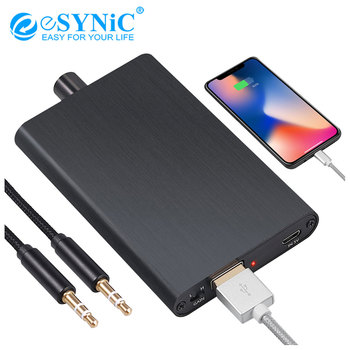 eSYNiC 16-300Ω HiFi Headphone Amplifier Built-in Power Bank With Bass Gain Switch Universal Compatibility 3.5mm AUX Earphone Amp image