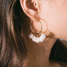 pendant retro earrings female simple geometric semi-circular C-shaped shaped pearl pendientes mujer moda 2019 brincos