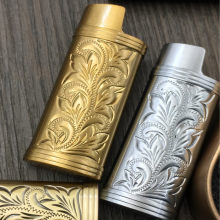 1PC Metal Armor Gas Lighter Shell Arabesque Hollow Carving J5 Lighter Case General Plastic Body Protection Lighter Cover(China)