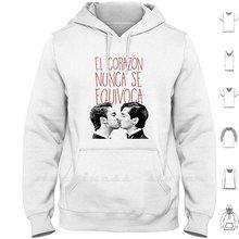 Aristemo-o coração nunca está errado hoodie manga comprida aristemo mi marido tiene mas fa mi lia
