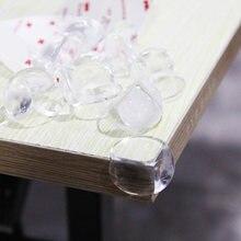 Protector de esquina de seguridad para bebés, antideslizante, esquina de la Mesa, suave y transparente, 10/12 Uds.