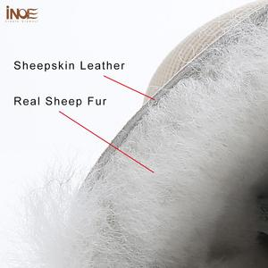 Image 5 - INOE Waterproof Sheepksin Leather Shearling Wool Fur Lined Short Winter Boots Women Ankle Snow Boots Silver Crystal Strap Shoes