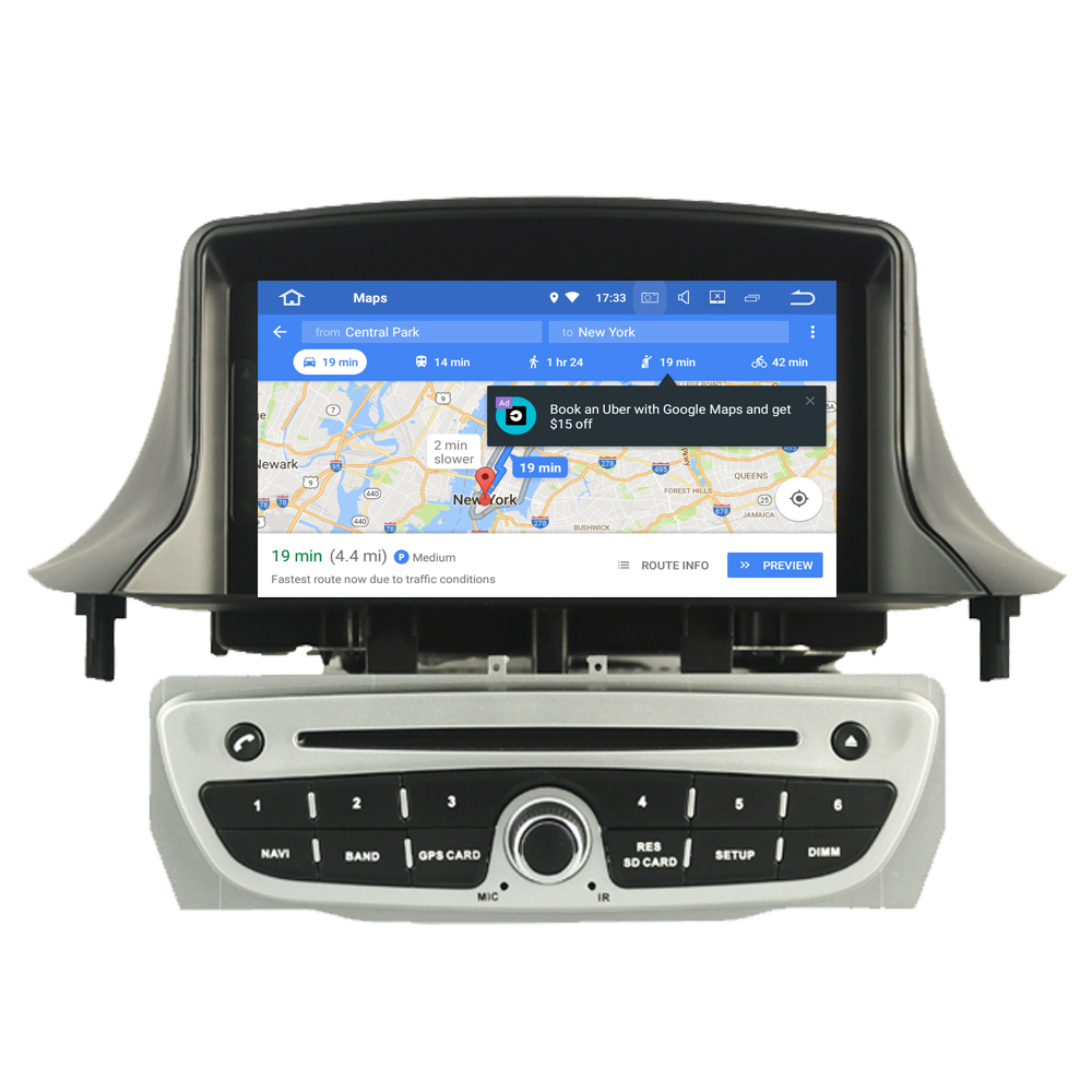 RoverOne Car Multimedia Player For Renault <font><b>Megane</b></font> III <font><b>3</b></font> Fluence Android 9.0 Octa Core Autoradio <font><b>GPS</b></font> Stereo Media System image