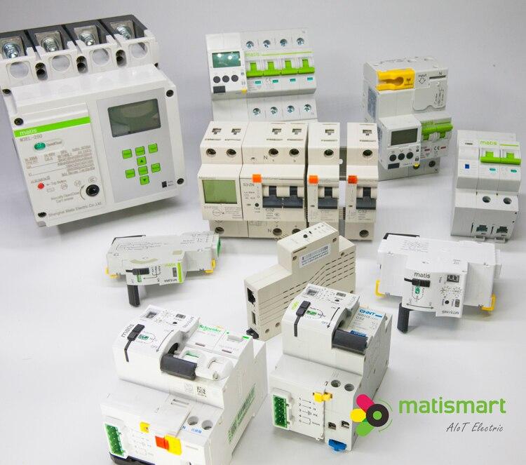 Matismart производитель Китай Электрический 24 способ пластиковый распределительный блок WI-FI автомат защити цепи MTS3 Смарт переменного тока выключатель метр пульт дистанционного управления