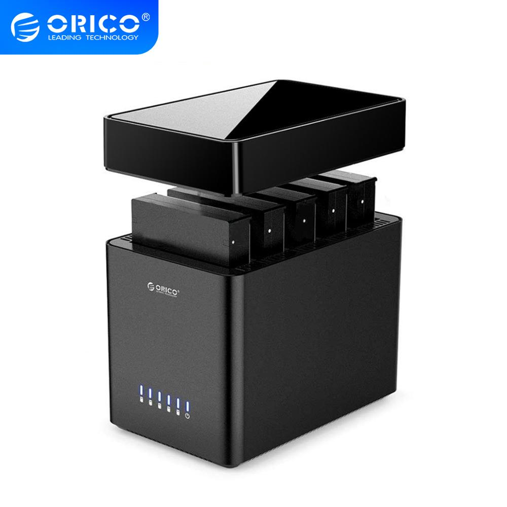 ORICO DS Series 5 Bay 3.5 Inch Hard Drive Enclosure Magnetic-type USB3.0 To SATA3.0 HDD Case Support UASP 12V6.5A Power 50TB