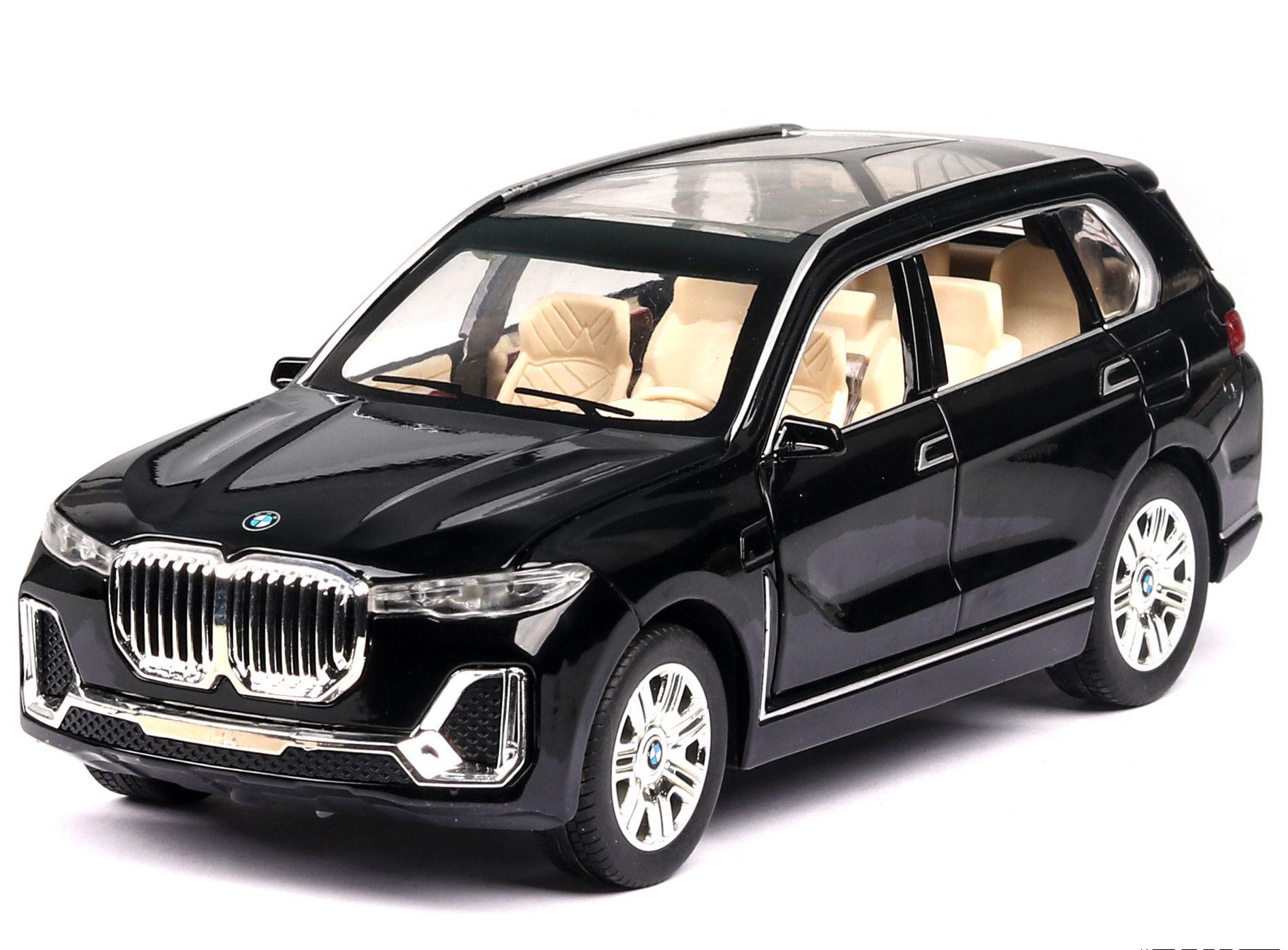 1:24 модель автомобиля X7 Модель Детская игрушка сплав модель автомобиля звук и светильник открываются двери Рождественский подарок детские