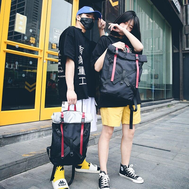 New Schoolbag Female Korean Harajuku ulzzang High School Students Backpack Travel High Capacity Travel Fashion Male Backpack