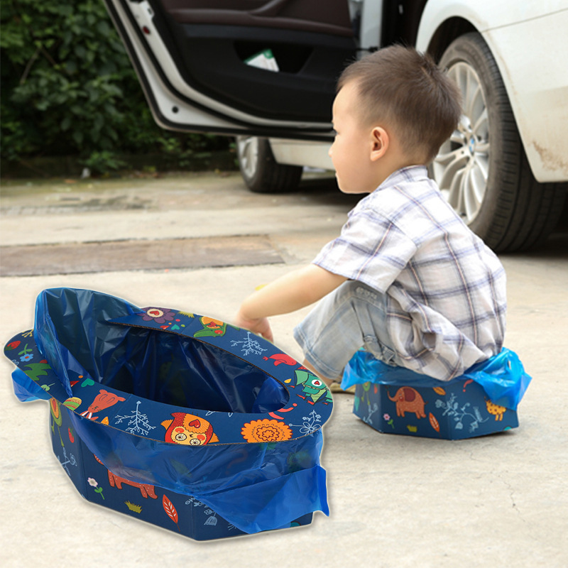 Baby Toilet Children Men And Women Baby Portable Chamber Pot Urine Bag Urinal Travel Car Mounted Folding Potty Urinal