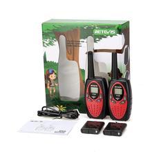 Retevis rt628 walkie talkie crianças recarregável 2 pces pmr para o presente de aniversário do ano novo walkie talkie crianças bateria recarregável
