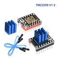 BIGTREETECH TMC2209 V1.2 Драйвер шагового двигателя UART StepSticks VS TMC2208 TMC2130 для SKR V1.3 PRO E3 MKS 3d панель принтера