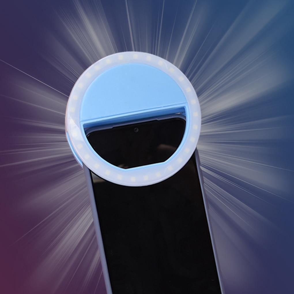 Universele Selfie Led Ring Flash Light Draagbare Mobiele Telefoon 36 Leds Selfie Lamp Lichtgevende Ring Clip Voor Iphone Voor Samsung