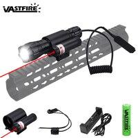 Военный страйкбольный оружейный светильник XM-L T6 5000 люменов светодиодный тактический охотничий флэш-светильник винтовка для разведчика по...