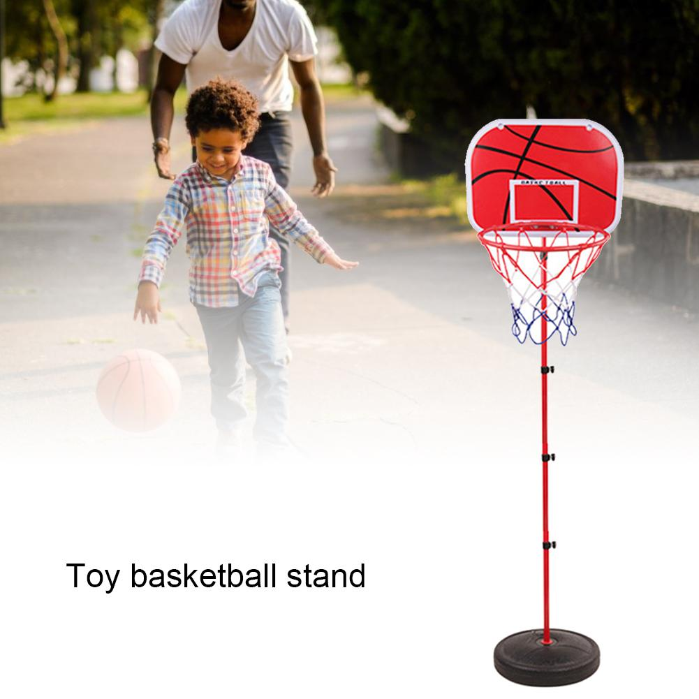 Portable Basketball Hoop Stand With Adjustable Height Basketball Hoop With Stand For Indoors Outdoors Children Toy Birthday Gift
