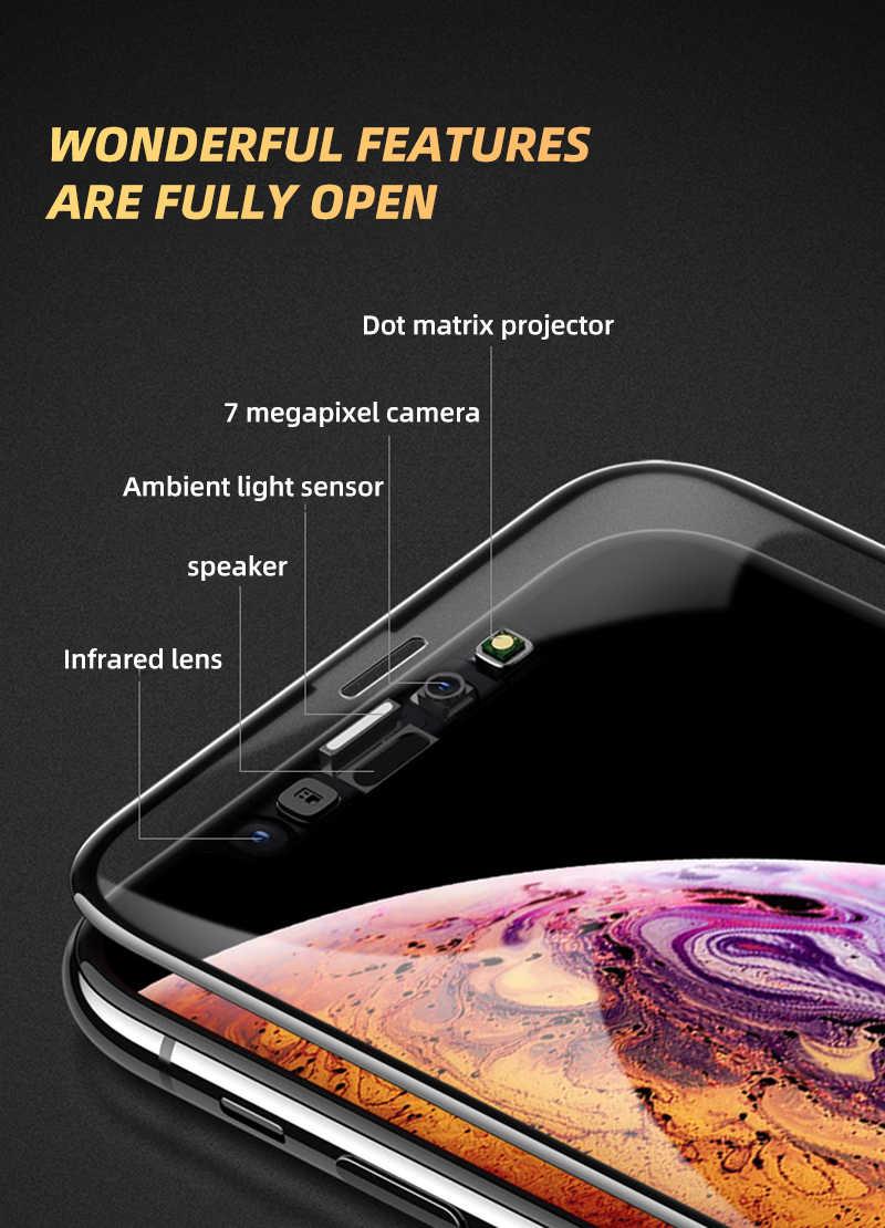 2 pièces 550D Pleine Couverture En Verre Trempé Pour iPhone 11 Pro Verre X XS Max XR Écran Protecteur de Verre Pour iPhone 6 6s 7 8 Plus Film