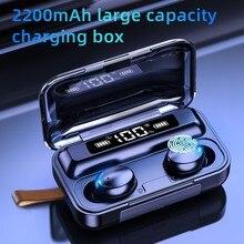 Tws Bluetooth 5.0 Koptelefoon 2200Mah Opladen Doos Draadloze Hoofdtelefoon 9D Stereo Sport Waterdichte Oordopjes Headsets Met Microfoon