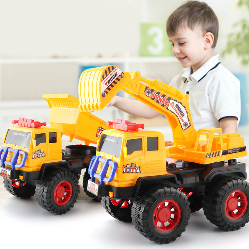 Funny Car Toys Baby Large Simulation Engineering Toy Excavator Model Tractor Toy Dump Truck Model Car Toys Mini Gift Kids