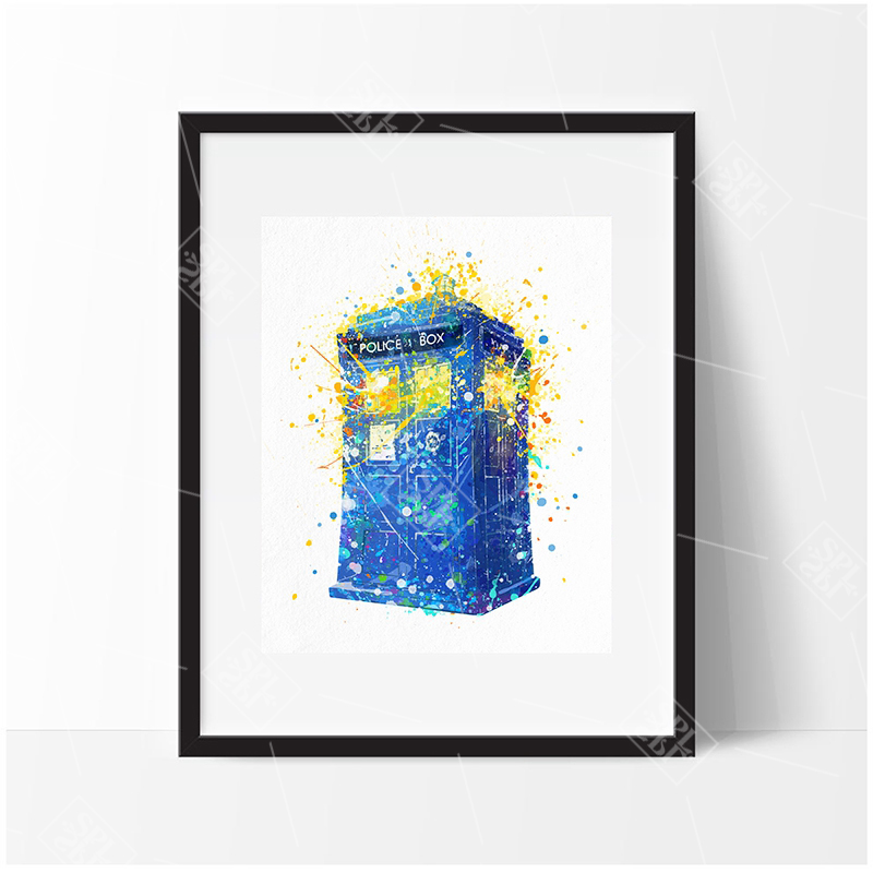 Doctor-Who-Quote-Canvas-Art-Print-Painting-Tardis-Doctor-Who-Art-Posters-and-Print-Wall-Picture (3)