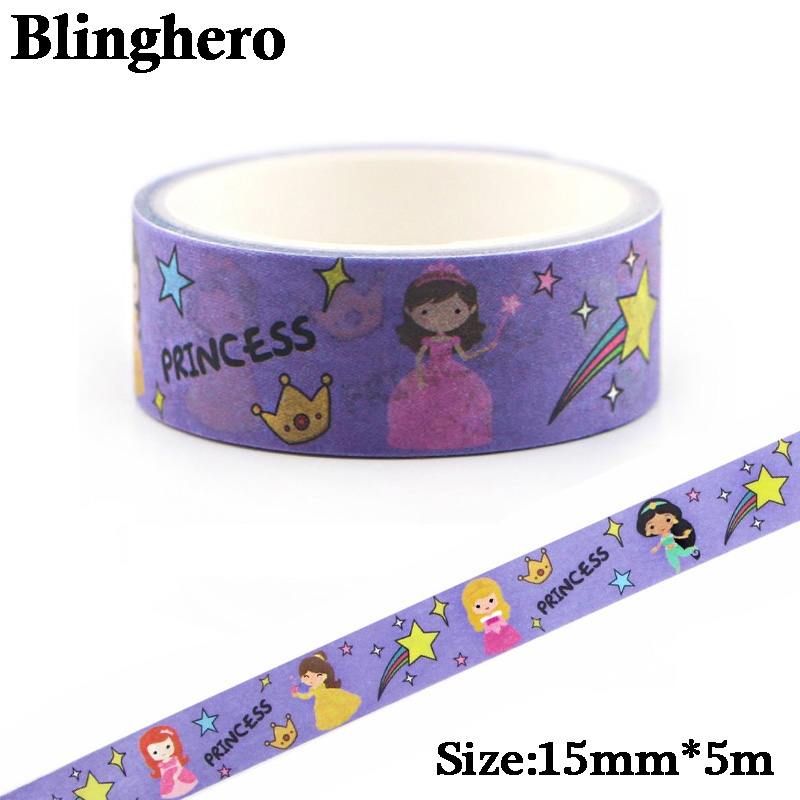 CA374 15mmX5m Kawaii Girl Decorative Home Princess Washi Tape DIY Scrapbooking Masking Tape School Office Adhesive Tapes