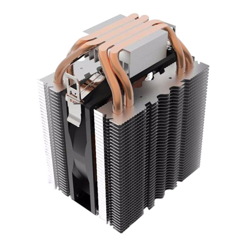 4pcs Heatpipe Radiator Blue LED Hydraulic Bearing <font><b>CPU</b></font> <font><b>Cooler</b></font> Fan Heatsink for Intel LGA1150 1151 1155 775 <font><b>1156</b></font> AMD Fan Cooling image