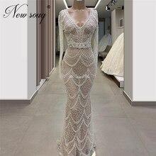 Роскошное блестящее платье, выполненное на заказ 2020, длинное официальное платье Кафтан с юбкой годе, длинные платья для выпускного вечера, Саудовская Аравия
