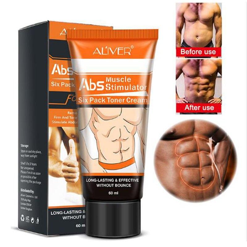 60g ALIVER Leistungsstarke Körper Creme Hormone Männer Muskel Starke Anti Cellulite Brennen Creme Abnehmen Gel Für Bauchmuskeln Muscle