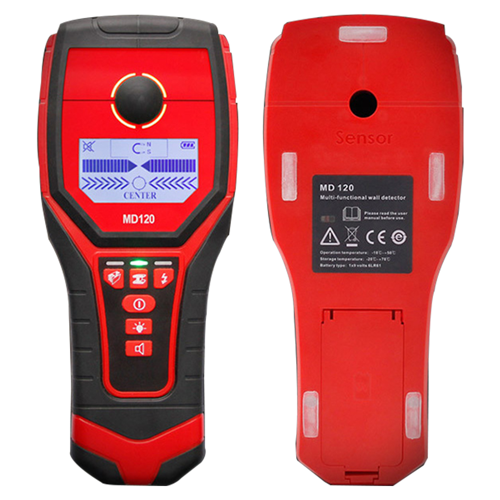 Multi functional Metal Detector MD120 Sensitive Wood Wall Detector Live Wire Studs Scanner LCD Display Metal Finder Hot Sale