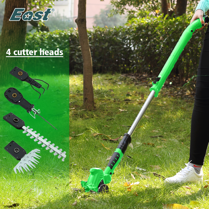 East Garden Power Tool 10.8V Li-Ion Cordless Hedge Trimmer Grass Trimmer Mini Cultivator Ferramentas Power Knife ET1007 4in1