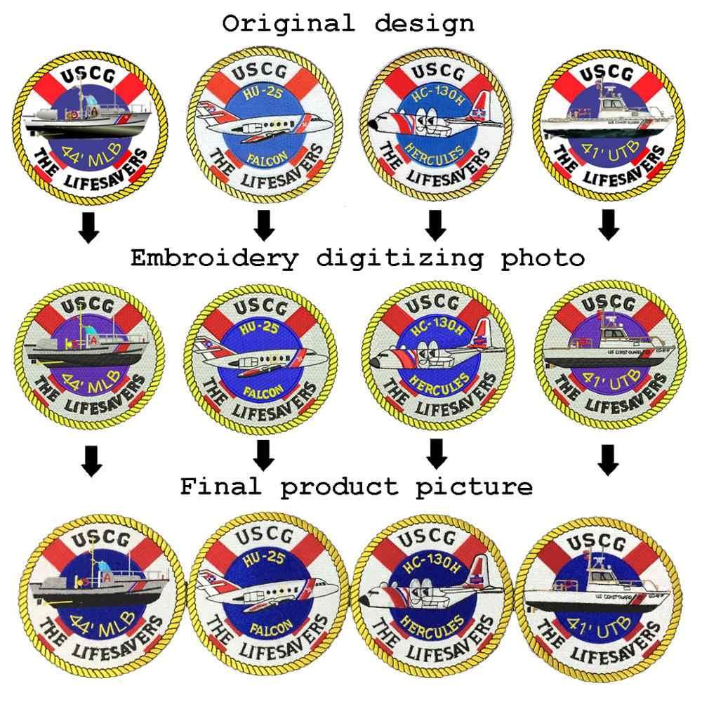 Aangepaste borduurwerk patch uw eigen gepersonaliseerde opstrijkbare militaire biker patch voor kleding applique DIY pvc badges brief stickers