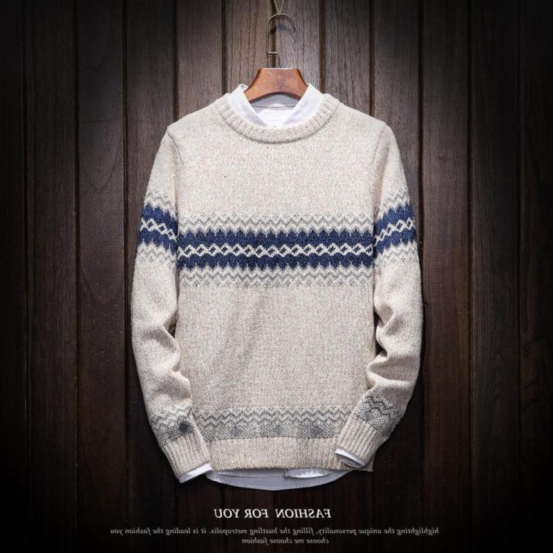 Winter Sweater Men's Warm Fashion Casual Knitting Pullover Man Wild Loose Large Size Sweater Male Sweter Clothes M-6XL