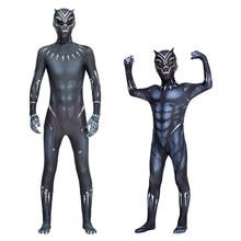 Monos de Halloween para niños y adultos, traje de Cosplay de pantera negra