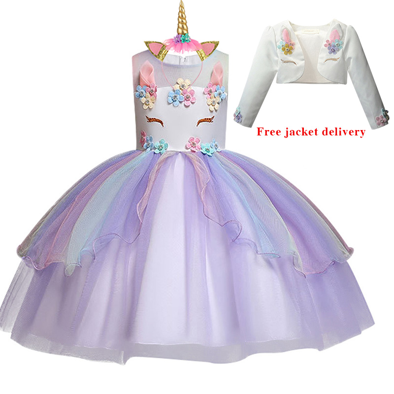 H0f257c29840c44689f8317e169e151a9q New Unicorn Dress for Girls Embroidery Ball Gown Baby Girl Princess Birthday Dresses for Party Costumes Children Clothing