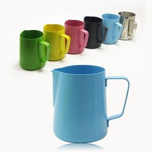 Image 1 - 600 Ml Sữa Inox Không Gỉ Bình Đựng Cà Phê Espresso Chảo Barista Thủ Công Sữa Cà Phê Latte Không Gỉ Bình Bầu 6 Màu